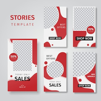 バナーの背景を販売するソーシャルメディアストーリーのコレクション