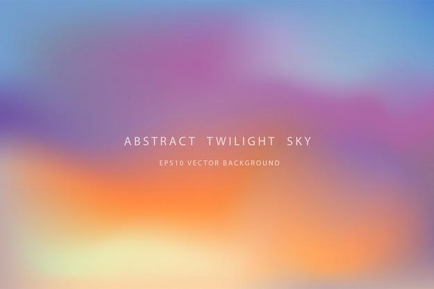 Красивый абстрактный фон сумеречного неба