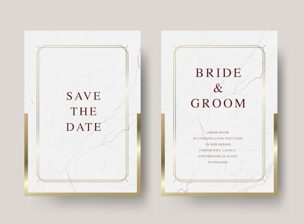 ヴィンテージの豪華な結婚式の招待カード