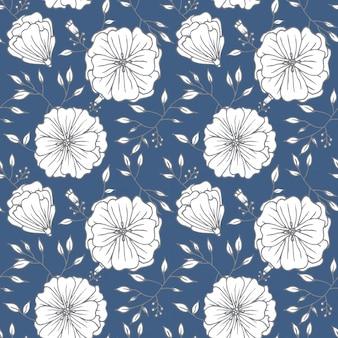 ビンテージ花のシームレスパターン