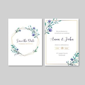 花結婚式招待状