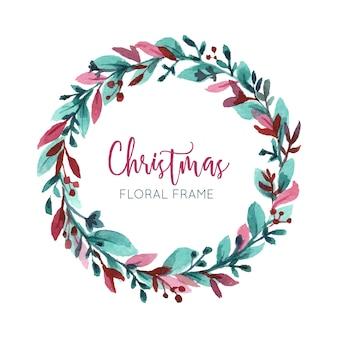 Акварельная рождественская рамка