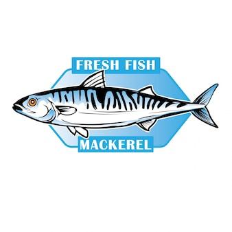 新鮮な魚の鯖バッジ