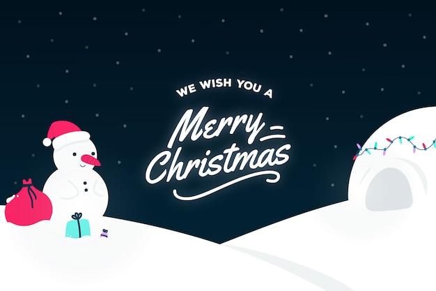 クリスマスの背景のデザイン