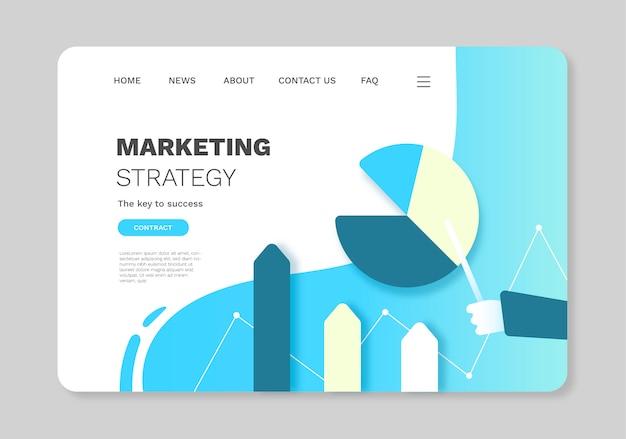 Цифровая маркетинговая целевая страница