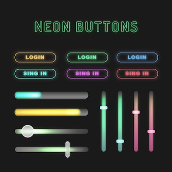 Неоновые кнопки