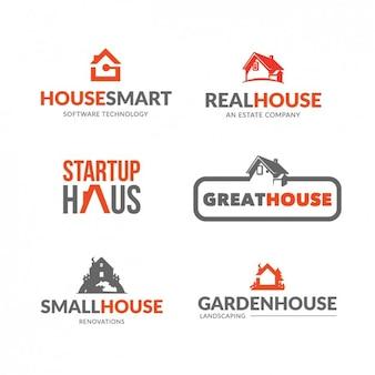 Недвижимость логотип коллекция