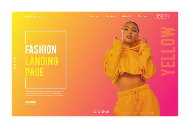 Модная целевая страница