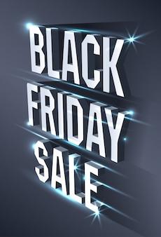 黒い金曜日の販売のための暗いバナー。