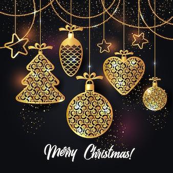 クリスマスの背景のベクトル図