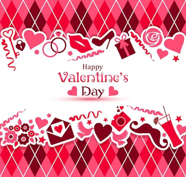バレンタインデーのベクトルカード