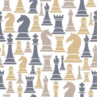 Бесшовные с шахматными фигурами
