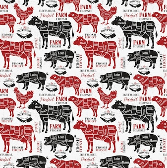 Мясные отрубы. схемы для мясной лавки