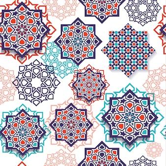 イスラムの幾何学的芸術のシームレスパターン