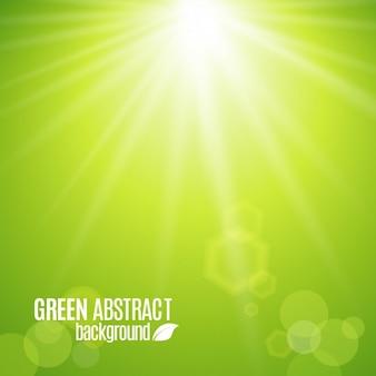 Зеленый блестящий фон