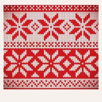 クリスマスノルディックシームレス編み図