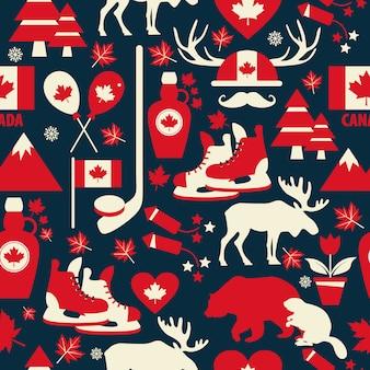カナダのシームレスなパターン。