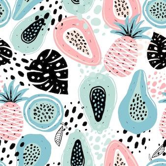 果物とのシームレスなパターン