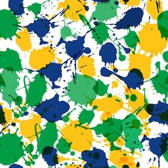 Бразилия кляксы цвета бесшовные модели