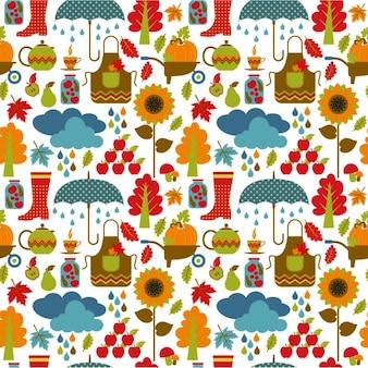 秋のシームレスなパターン