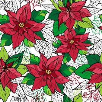 メリークリスマス花の背景