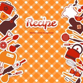 レシピについてのオレンジ色の背景