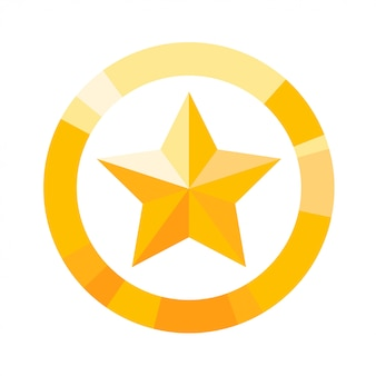 Желтый значок звезды