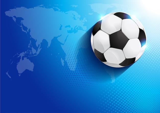 世界地図とサッカーボール