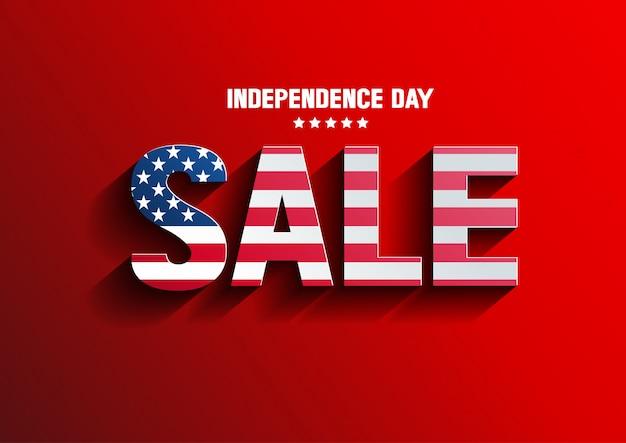 独立記念日セールベクトル