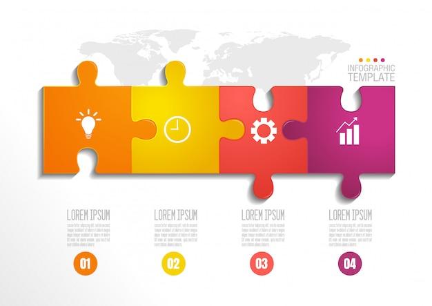 Шаблон бизнес инфографики