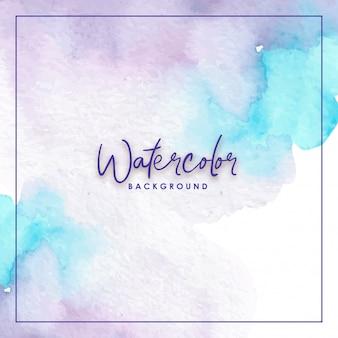 混合色ブルーパープル水彩背景
