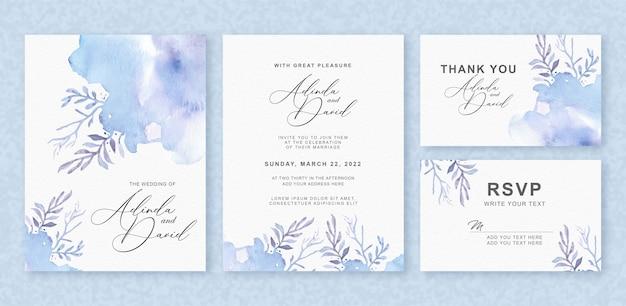 美しい花のスプラッシュ結婚式招待状セット