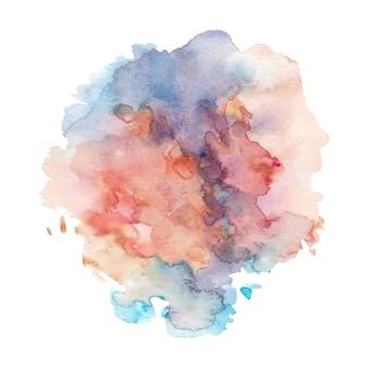 Смешанные цвета абстрактного фона акварелью