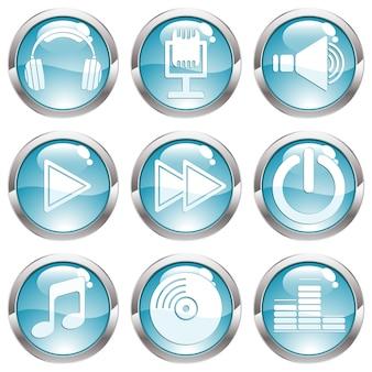 音楽光沢ボタンの設定