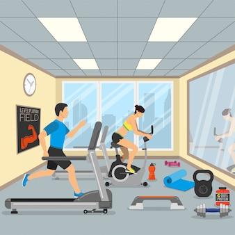 Концепция фитнеса и спортзала