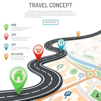 旅行とナビゲーションの概念