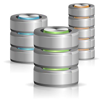 データベースとハードディスクのアイコン