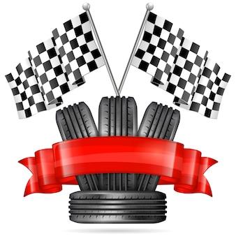 白のレーシングタイヤ