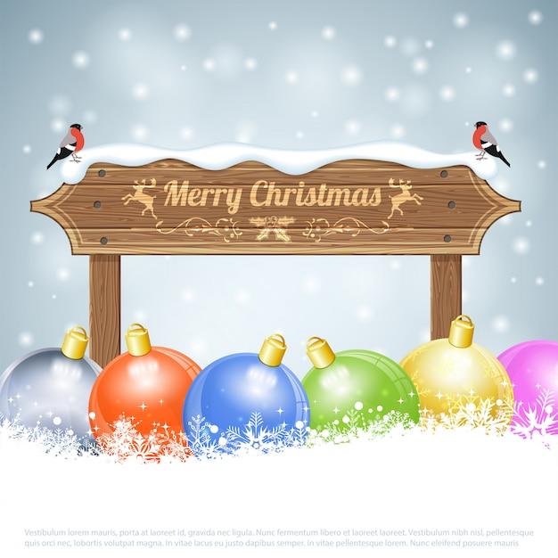 休日のクリスマスカード