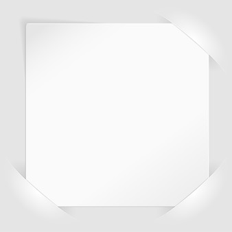 ポケットに取り付けられた白い紙