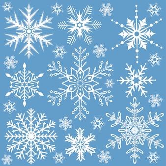 Снежинки бесшовные