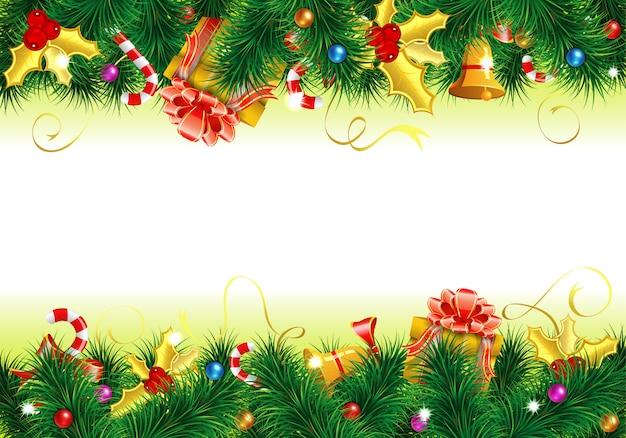 Рождественская рамка с копией пространства
