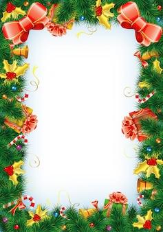 コピースペースクリスマスフレーム
