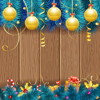 クリスマスフレームの背景
