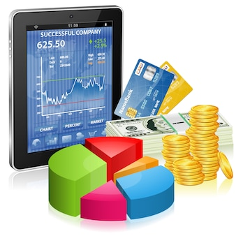 金融コンセプト-インターネットでお金を稼ぐ