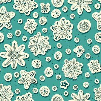 降雪のシームレスパターン