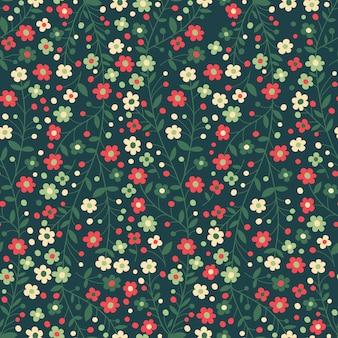 Бесшовный цветочный узор цветущие ветви