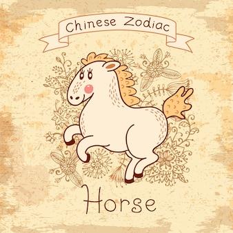 中国の黄道帯-馬