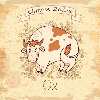 中国の黄道帯-牛