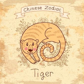 中国の黄道帯-タイガー